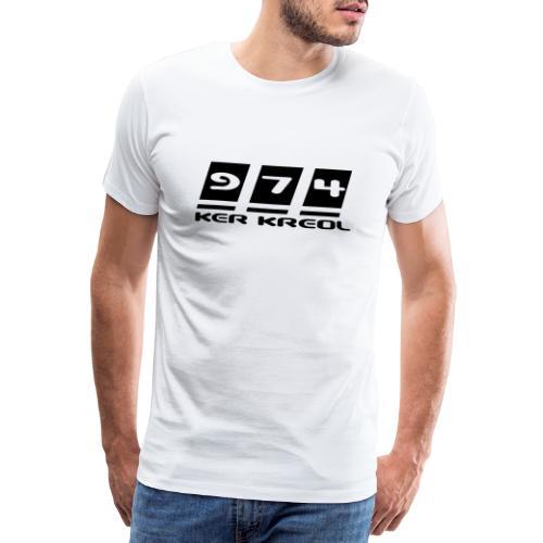 974 Ker Kreol, La Réunion - T-shirt Premium Homme