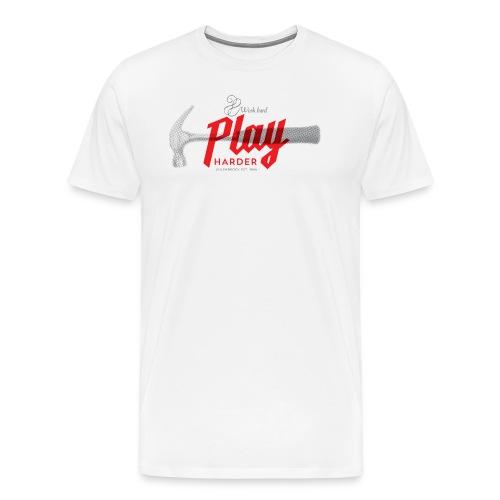 word hard play harder - Männer Premium T-Shirt