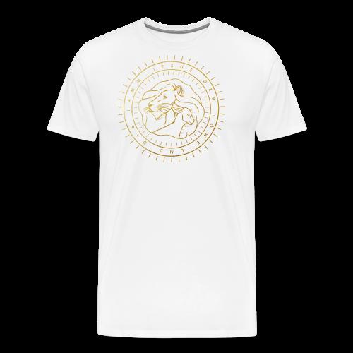 Löwe & Lamm (Motiv 1) - Männer Premium T-Shirt