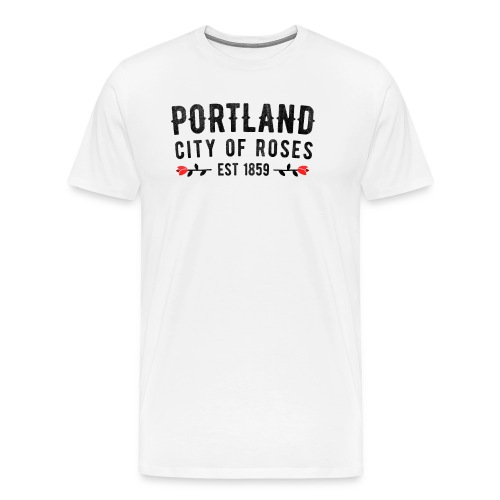 Portland City Of Roses Est 1859 Classic - Men's Premium T-Shirt