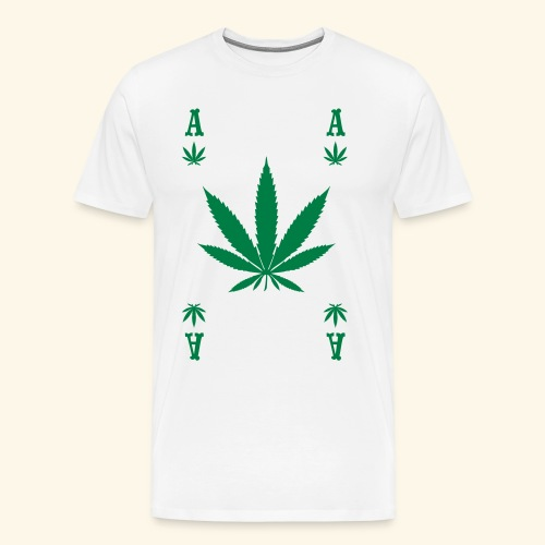 Ace Hemp POKER ACE CANNABIS GIFT - Men's Premium T-Shirt