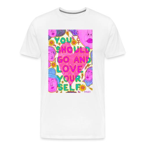 Go and love yourself - Premium-T-shirt herr