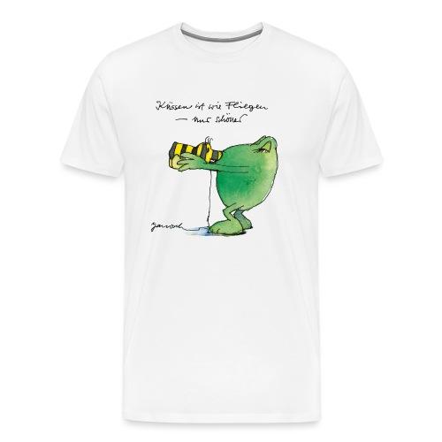 Janosch Frosch 'Küssen ist wie ...' - Männer Premium T-Shirt