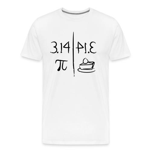 pi vs pie - Men's Premium T-Shirt