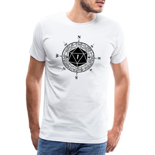 Walk the line - Premium-T-shirt herr