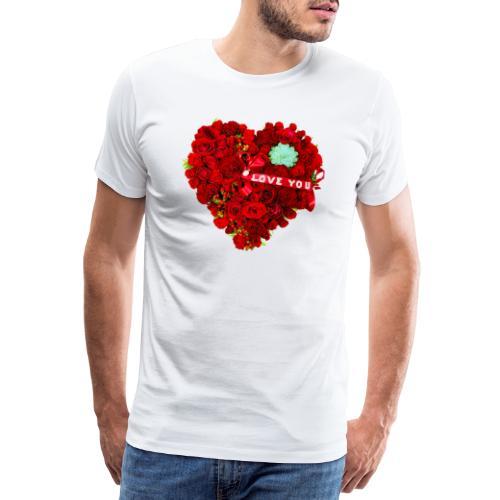 Love is Flower - T-shirt Premium Homme