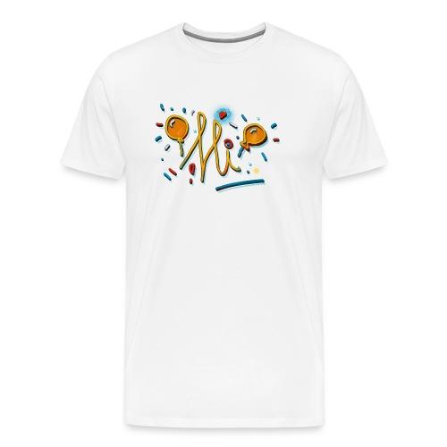 Hi Sunny Doodle fun design by FabSpark - Men's Premium T-Shirt