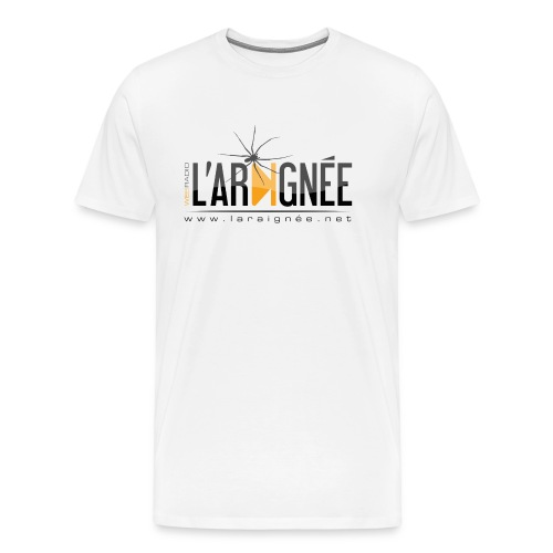 L'ARAIGNÉE, logo noir - T-shirt Premium Homme