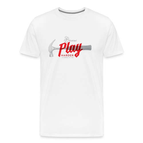 word hard play harder - Männer Premium T-Shirt