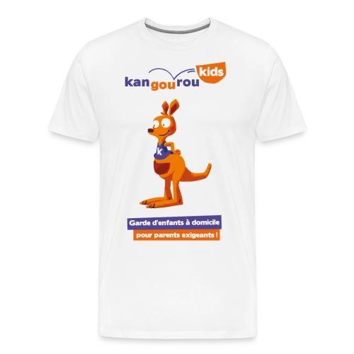 logo kangourou baseline png - T-shirt Premium Homme
