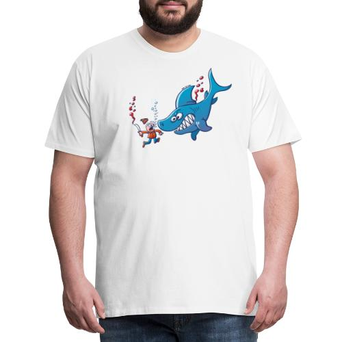 Sharks are Furious, Stop Finning! - Men's Premium T-Shirt