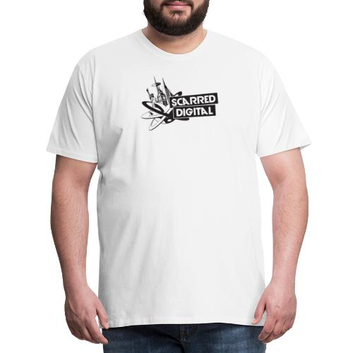 SCARRED DIGITAL LOGO - Men's Premium T-Shirt