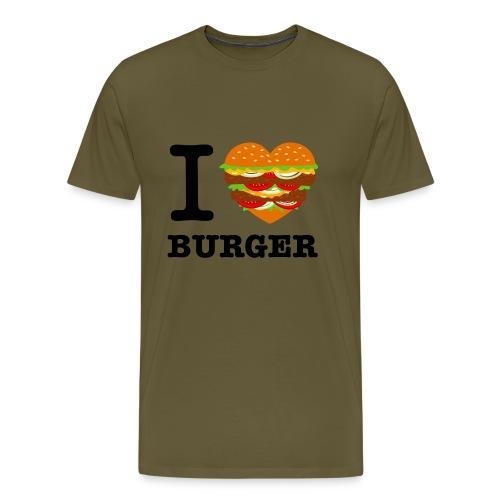 IloveBurger png - T-shirt Premium Homme
