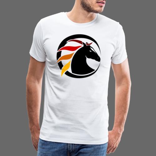 Buntes Pferdelogo - Männer Premium T-Shirt