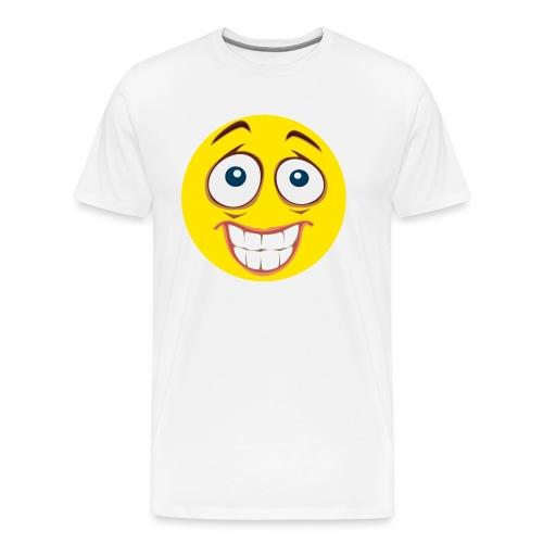 Gekke Smiley - Mannen - Mannen Premium T-shirt