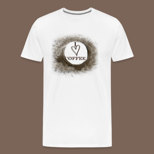 I Heart Coffee - Men's Premium T-Shirt