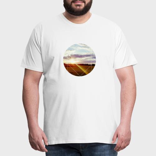 Sonnenuntergang am Platz - Männer Premium T-Shirt