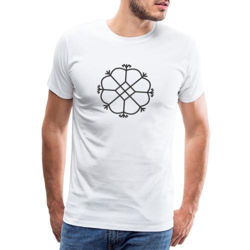 Aurinko, musta - Miesten premium t-paita