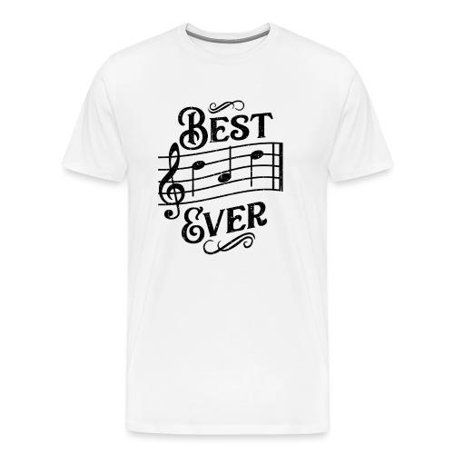 Best Dad Ever - old style - black - Premium-T-shirt herr