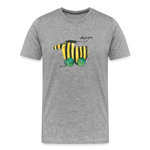 Janosch Tigerente Love you - Männer Premium T-Shirt