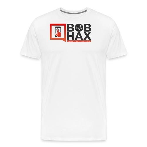 LOGO BobHax nero trasp - Maglietta Premium da uomo