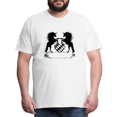 Bavaricorns Einhörner Leerbanner Geschenkidee - Männer Premium T-Shirt