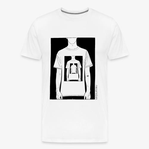 Recursion | Loop | Repeat | Optical illusion - Men's Premium T-Shirt