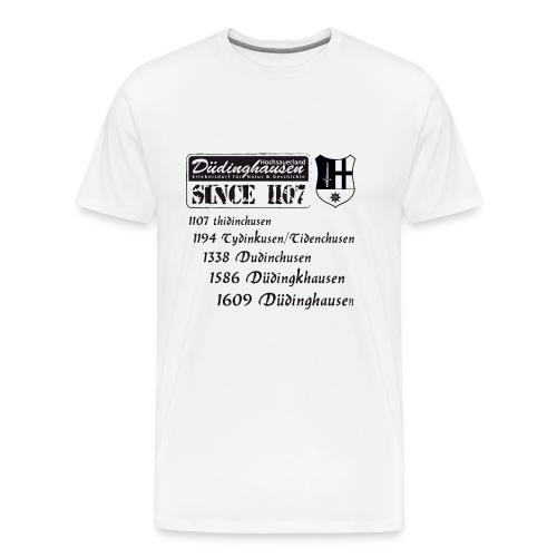 since 1107 text s - Männer Premium T-Shirt