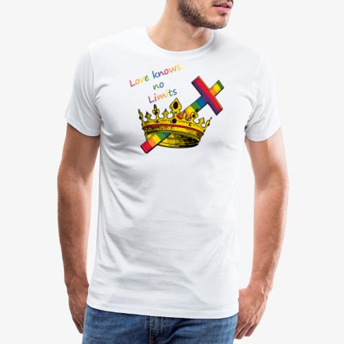 Love knows no limits KRONA - Pride - Premium-T-shirt herr