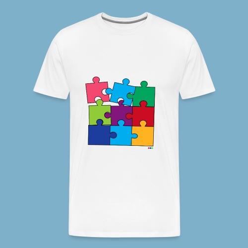 Puzzle Fun Motive - Männer Premium T-Shirt