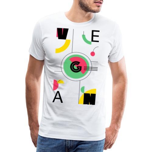 Abstract Vegan - Men's Premium T-Shirt