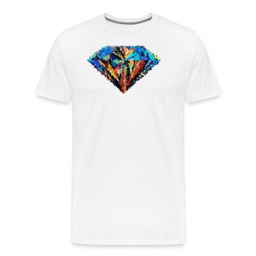 Diamant abstrait - T-shirt Premium Homme