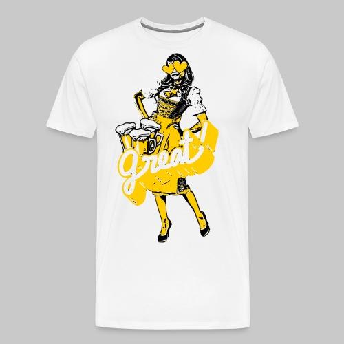 2reborn dirndl oktoberfest bier bayern herz party - Männer Premium T-Shirt