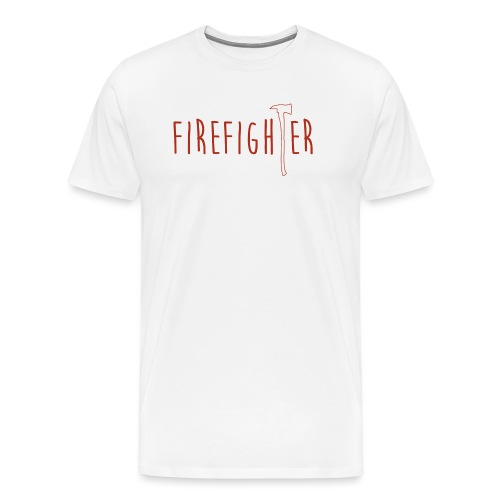 Firefighter Axt - Rot - Männer Premium T-Shirt