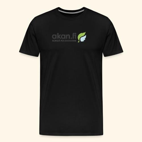 Akan Black - Premium-T-shirt herr