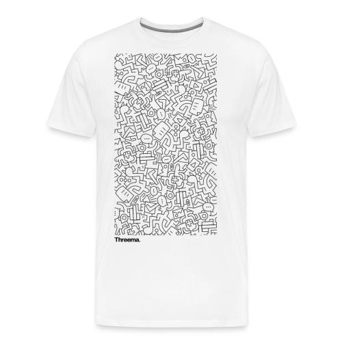 Illustration auf weiss - Männer Premium T-Shirt