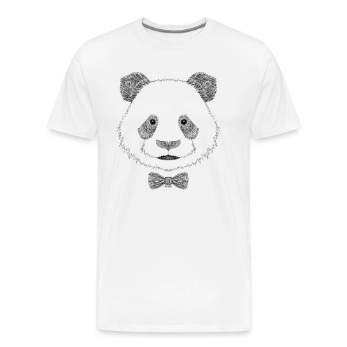 Panda tête noeud papillon - T-shirt Premium Homme