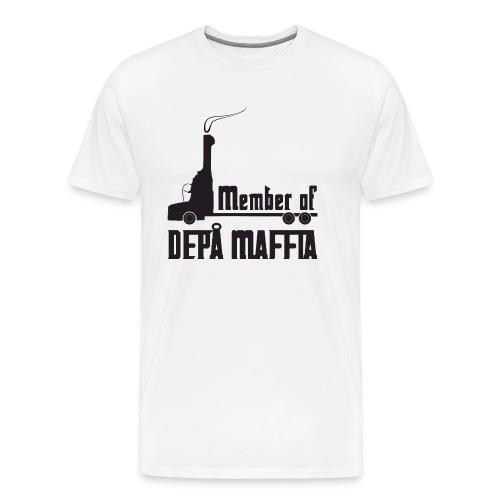 Depå Maffia svart tryck - Premium-T-shirt herr