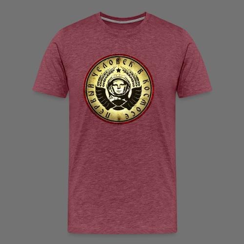 Kosmonautti 4c retro (oldstyle) - Miesten premium t-paita