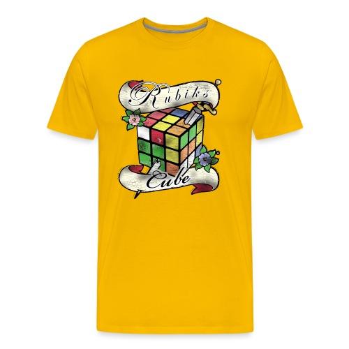Rubik's Cube Tatoo - Men's Premium T-Shirt