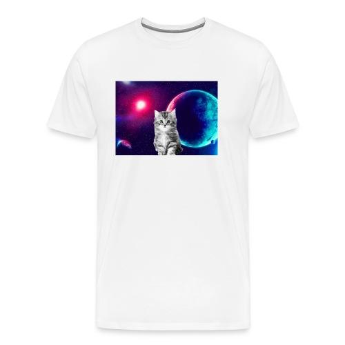 Cute cat in space - Miesten premium t-paita