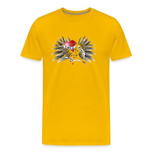 Love, Peace and Hope - Liebe, Frieden, Hoffnung - Männer Premium T-Shirt