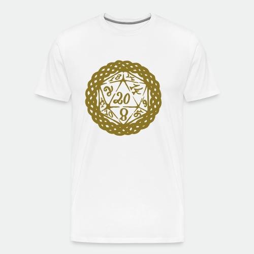 D20 Geschenk Glücksbringer Rollenspiel Würfel - Men's Premium T-Shirt