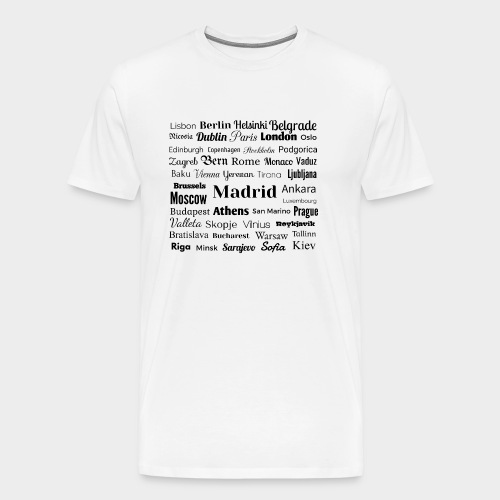 European capitals - Men's Premium T-Shirt