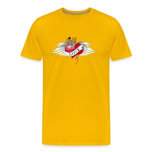 Love Hurts 4- Liebe verletzt - Männer Premium T-Shirt