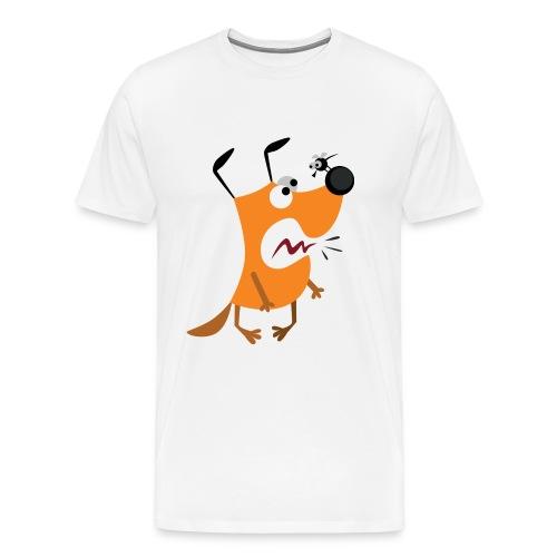 Hund mit Mücke - Männer Premium T-Shirt