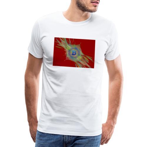 A Splash of Bitcoin - Mannen Premium T-shirt