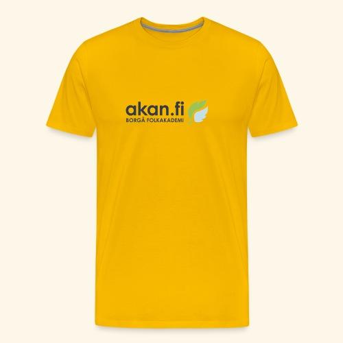 Akan Black - Miesten premium t-paita