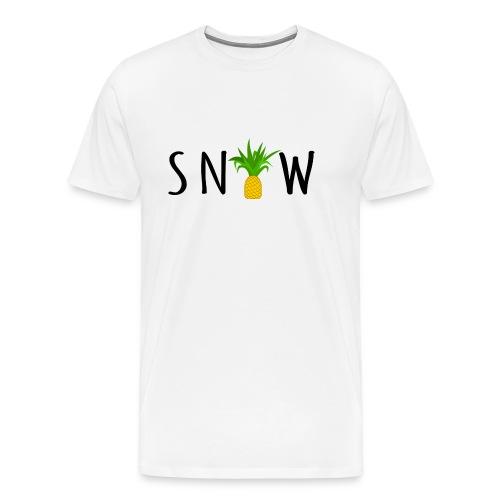PineappleSnow - Premium-T-shirt herr