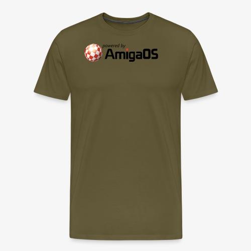 PoweredByAmigaOS Black - Men's Premium T-Shirt